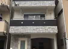 大阪市東淀川区N様邸、外壁屋根塗装工事完工です