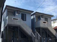 大阪市城東区ハイツ2棟、外壁塗装工事完工