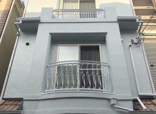 大阪市天王寺区K様邸、外壁屋根塗装工事・ベランダ防水工事完工