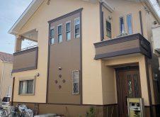 大阪市住吉区U様邸、外壁屋根塗装工事完工